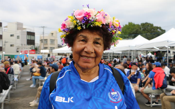 Kalala Carmine travelled from Christchurch to support Manu Samoa.