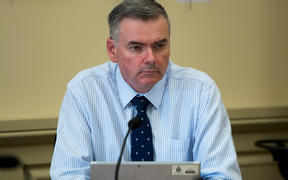 National MP for Coromandel Scott Simpson listens to a submission to the Health Select committee on a petition to permit medically-assisted dying.