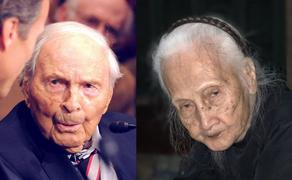 The numbers of centenarians are growing. 107-year-old Frank Buckles giving testimony to a US Senate Committee in 2008, and a 100-year-old woman in Vietnam in 2019.