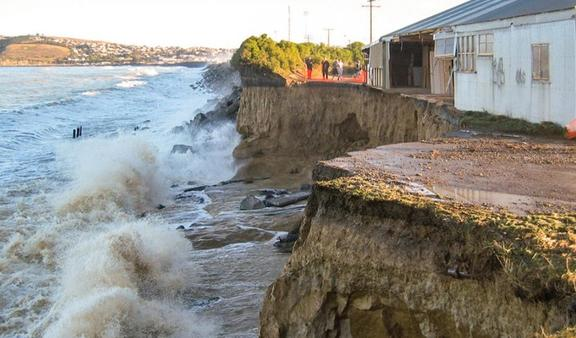 In June 2007, the coastal cliffs at Oamaru were washed away, affecting this factory and a conservation area for blue penguins