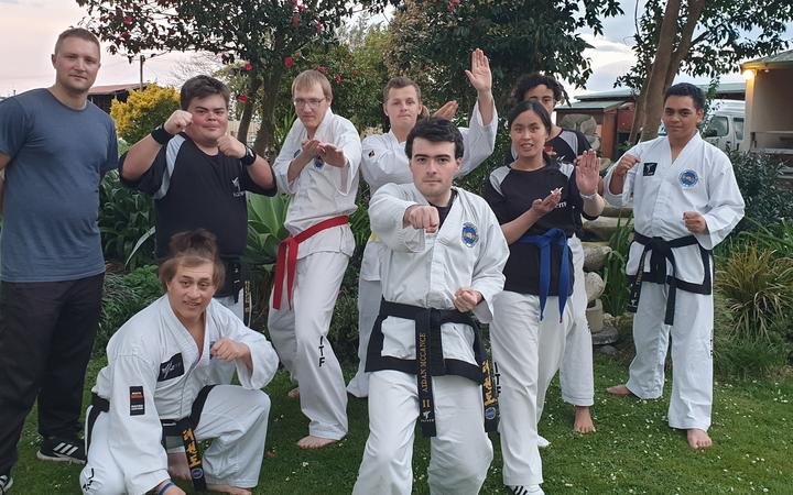 Some members of the New Zealand Taekwon-Do team.