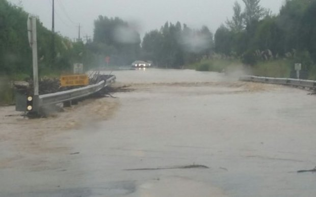 Flooding on SH25 south of Whitianga early on Thursday 17 March.