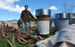Phil Stevens has a couple of purpose built kilns on his lifestyle block for making biochar