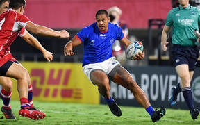 Ed Fidow scored two tries in Samoa's opening game against Russia.