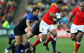 Siale Piutau played in Tonga's Rugby World Cup victory over France in 2011.
