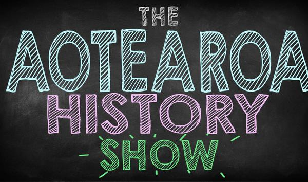 William Ray and Leigh-Marama McLachlan on the Aoteatoa History Show episode one