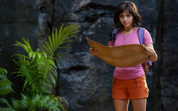 A still from the 2019 film Dora and the Lost City of Gold