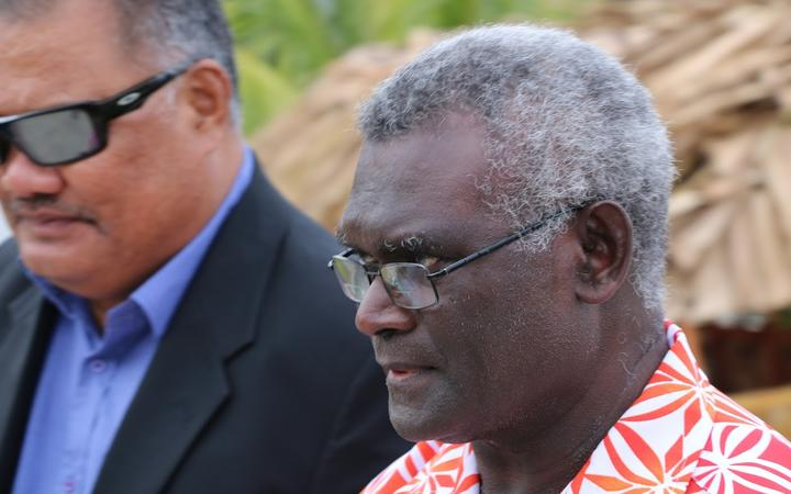 Manasseh Sogavare, prime minister of Solomon Islands.