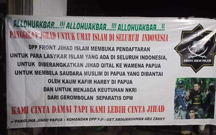 Indonesia's Front Jihad Islam looks to recruit jihadis to take up arms in Papua