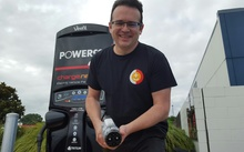 ChargeNet managing director Steve West with the electric charger.