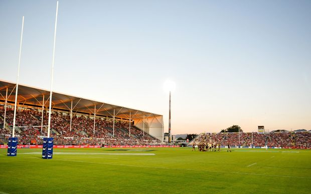 A Super Rugby game at the AMI Stadium earlier this year - Crusaders vs Chiefs.