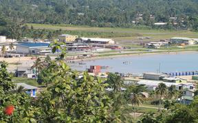 The harbour and airport in Vanimo, capital of Papua New Guinea's West Sepik province.