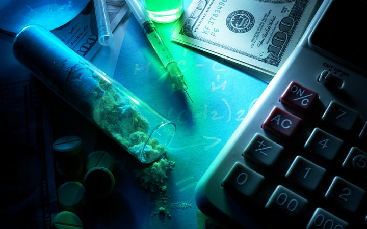 Drugs, pills, money. (File photo)