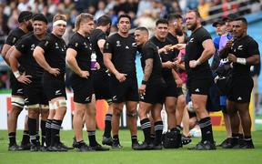All Blacks ahead of half time.