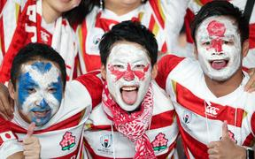 Japanese rugby fans, 2019.
