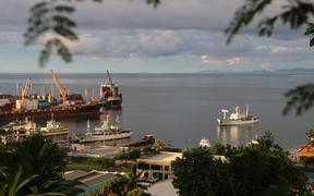 Honiara port, ships, boats, containers - Solomon Islands