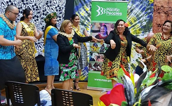 Niueans celebrate their culture and language with songs and dances.