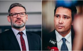 Immigration Minister Iain Lees-Galloway and National Party leader Simon Bridges.
