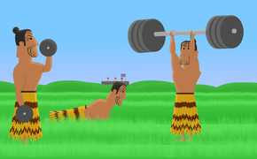 Waikato Maori proved stiff opposition for British troops. Animation by Chris Maguren