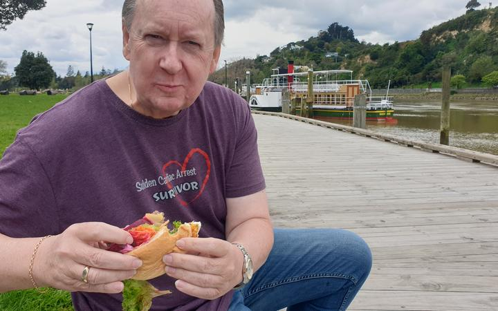 Geoff Horne was able to find plenty of places that serve a beetroot burger in Whanganui thanks to the internet.