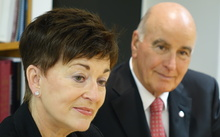 Dame Patsy Reddy and her husband, Sir David Gascoigne