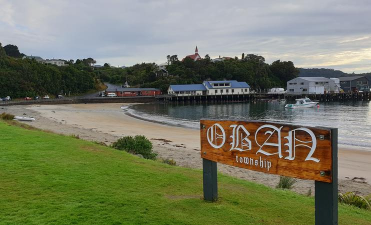 View of harbour from Stewart Island's Oban.