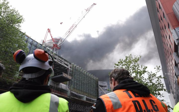 Traffic gridlocked in CBD due to SkyCity fire