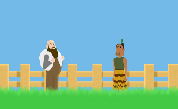 Most European immigrants to New Zealand came for the dream of land. Animation by Chris Maguren