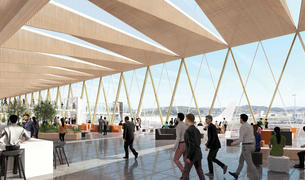 Artist impression of Wellington Airport upgrade.