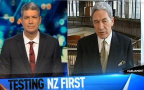 "Winston Peters tells The Project: ""We will help you""."