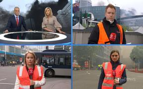 TVNZ's trio of hi-viz reporters had it covered on Monday's 1News.
