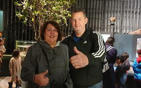 Sonya and Steve Coles in Japan to support their son, All Blacks hooker Dane Coles.