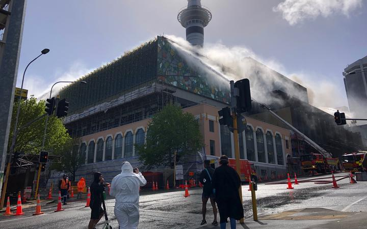SkyCity convention centre fire in Auckland CBD