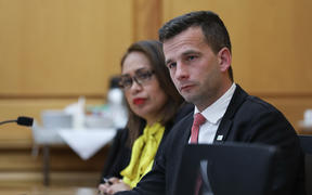 ACT leader David Seymour and National MP Agnes Loheni in committee