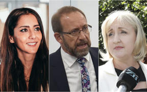 Golriz Ghahraman, Andrew Little, Amy Adams.