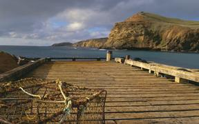 Wharf, Pitt Island, Chatham Islands.
