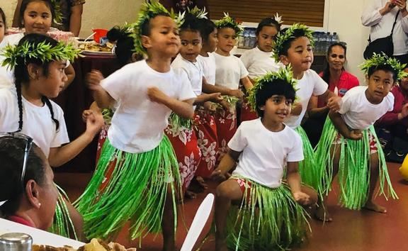 Tokelau children perform at the launch of their language week last weekend.