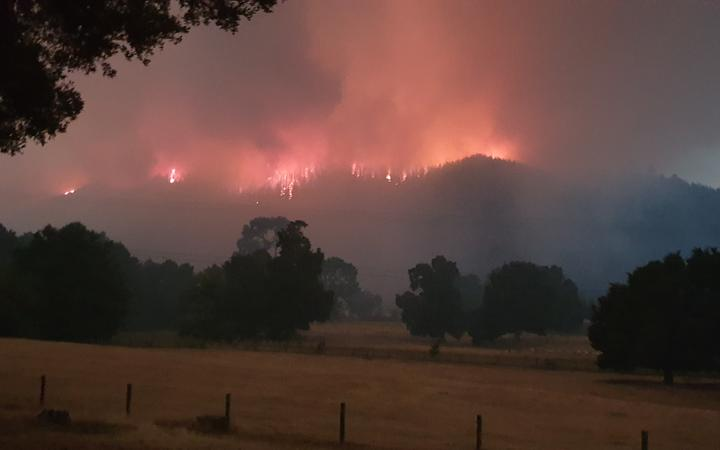 Merv Randle could see the fire at Pigeon Valley from his property earlier in 2019.