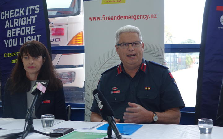 Fire and Emergency NZ Deputy chief executive Raewyn Bleakley and National Commander Kerry Gregory.