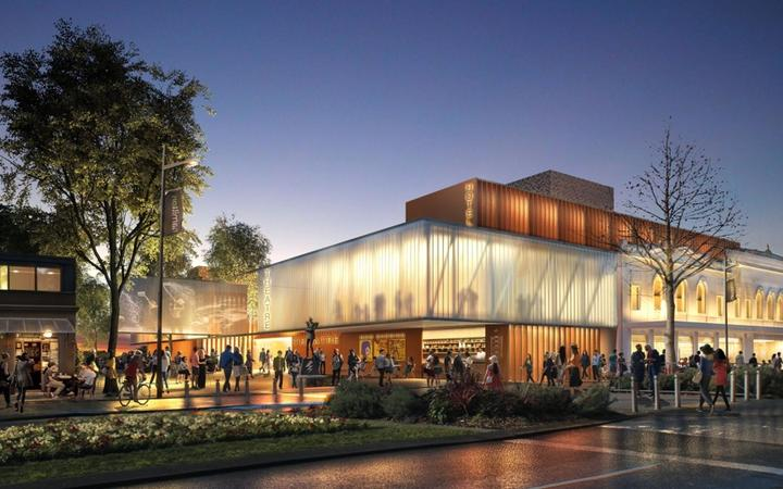 The new theatre will be built overlooking the Waikato River.