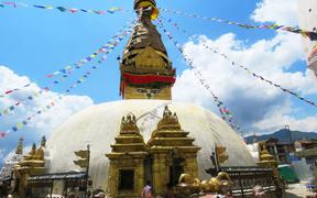 Swayambhunath Stupa (Monkey Temple) one of many UNESCO World Heritage sites in Kathmandu
