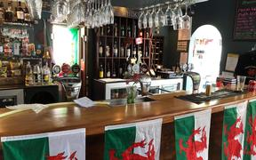 Owner of the Welsh Dragon Bar in Wellington, Andrew Jones, said although he's not witnessed a Wales win before, he's got a good feeling about this one.