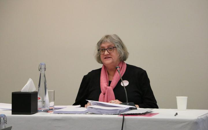 Dr Hilary Stace at the Royal Commission into abuse in care hearings.