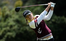 Lydia Ko tees off the second hole during the final round of the KIA Classic at the Park Hyatt Aviara Resort on March 27, 2016 in Carlsbad, California.