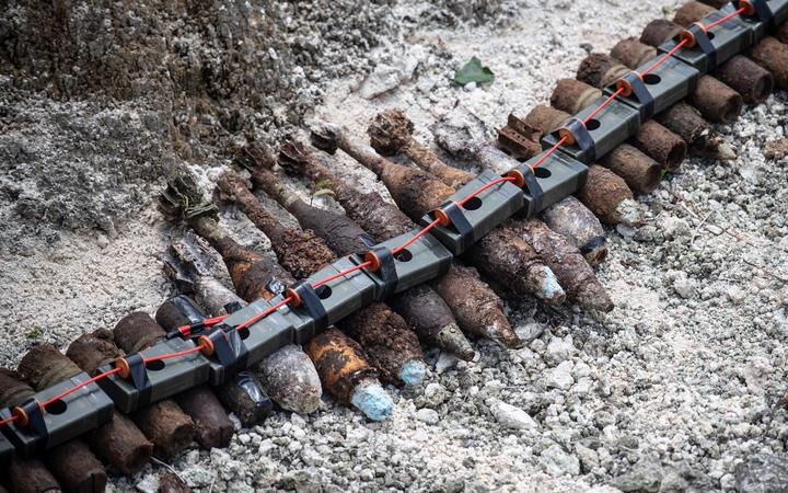 Recovered munitions are prepared for disposal