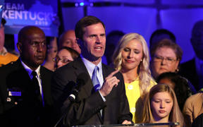 Governor-elect Andy Beshear speaks to supporters after ousting Republican Matt Bevin.