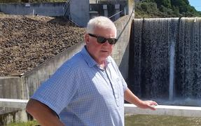 Wairoa mayor Craig Little by the Waihi Dam