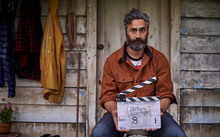 Taika Waititi on set for Hunt for the Wilderpeople