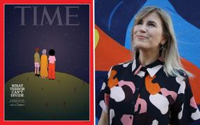 Wellington artist Ruby Jones and her Time Magazine cover.