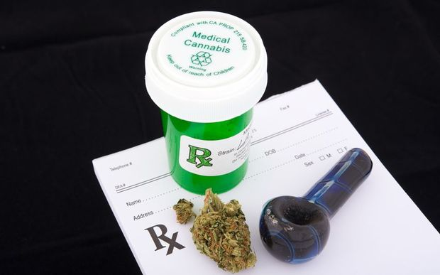 A medical marijuana prescription.